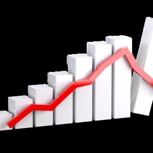 Grafico descenso de ingresos